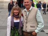 Bridget Putre and Kevin Creley in front of Rathaus-crop-OWT