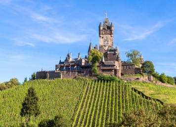 The Reichsburg in Cochem on the Mosel River