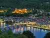 Evening view of Heidelberg Old Town, Germany